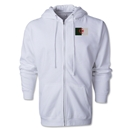 Algeria Flag Full Zip Hooded Fleece (White)
