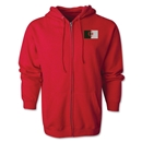 Algeria Flag Full Zip Hooded Fleece (Red)