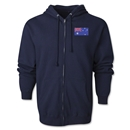 Australia Flag Full Zip Hooded Fleece (Navy)