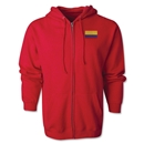 Colombia Flag Full Zip Hooded Fleece (Red)