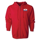 Croatia Flag Full Zip Hooded Fleece (Red)