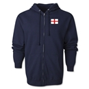 England Flag Full Zip Hooded Fleece (Navy)