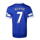 Everton 13/14 JELAVIC Home Soccer Jersey