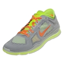 Nike Women's Free 5.0 TR Fit 4 Training Shoe (Light base grey/atomic orange/volt)