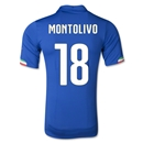 Italy 2014 MONTOLIVO Authentic Home Soccer Jersey