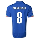 Italy 2014 MARCHISIO Home Soccer Jersey