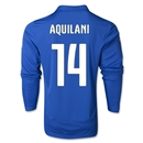 Italy 2014 AQUILANI LS Home Soccer Jersey