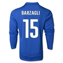 Italy 2014 BARZAGLI LS Home Soccer Jersey