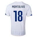 Italy 2014 MONTOLIVO Away Soccer Jersey