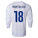 Italy 2014 MONTOLIVO LS Away Soccer Jersey