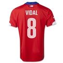 Chile 2014 VIDAL Home Soccer Jersey