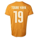 Cote d'Ivoire 2014 TOURE YAYA Home Soccer Jersey