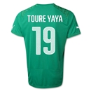 Cote d'Ivoire 2014 TOURE YAYA Away Soccer Jersey