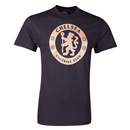 Chelsea Metallic Crest T-Shirt (Black)