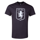 Aston Villa Metallic Crest T-Shirt