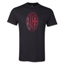 AC Milan Metallic Crest T-Shirt (Black)