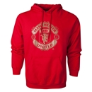 Manchester United Metallic Crest Hoody (Red)