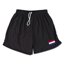 Netherlands Team Soccer Shorts (Black)