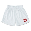 Switzerland Team Soccer Shorts (White)
