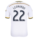 LA Galaxy 2014 LEONARDO Authentic Primary Soccer Jersey