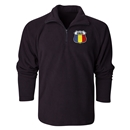 Romania Flag Crest 1/4 Fleece Pullover