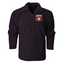 Switzerland Flag Crest 1/4 Fleece Pullover
