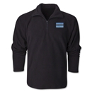 Botswana Flag 1/4 Fleece Pullover