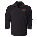 Burkina Faso Flag 1/4 Fleece Pullover