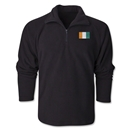 Cote d'Ivoire Flag 1/4 Fleece Pullover