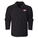 Dominican Republic Flag 1/4 Fleece Pullover