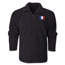 France Flag 1/4 Fleece Pullover