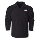 Kuwait Flag 1/4 Fleece Pullover