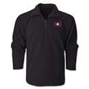 Laos Flag 1/4 Fleece Pullover
