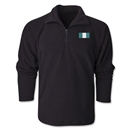 Nigeria Flag 1/4 Fleece Pullover