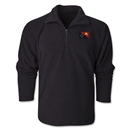 Papua New Guinea Flag 1/4 Fleece Pullover