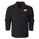 Poland Flag 1/4 Fleece Pullover