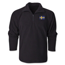 Sweden Flag 1/4 Fleece Pullover