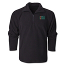 Turkmenistan Flag 1/4 Fleece Pullover