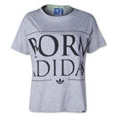 adidas Originals Indie Graphic Women's T-Shirt (Gray/Black)