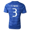 Brazil 2014 T. SILVA Authentic Away Soccer Jersey