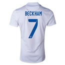 England 2014 BECKHAM Authentic Home Soccer Jersey