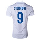 England 2014 STURRIDGE Authentic Home Soccer Jersey