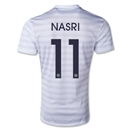 France 14/15 NASRI Away Soccer Jersey