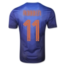 Netherlands 2014 ROBBEN Authentic Away Soccer Jersey