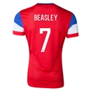 USA 2014 BEASLEY Authentic Away Soccer Jersey