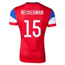 USA 2014 BECKERMAN Authentic Away Soccer Jersey