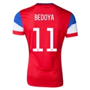 USA 2014 BEDOYA Authentic Away Soccer Jersey