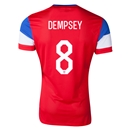 USA 2014 DEMPSEY Authentic Away Soccer Jersey