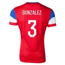 USA 2014 GONZALEZ Authentic Away Soccer Jersey