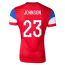 USA 2014 JOHNSON Authentic Away Soccer Jersey